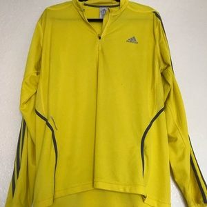 Yellow adidas pullover